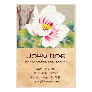 Zuigetsu Ikeda Pink Camellia japanese flower art Business Cards