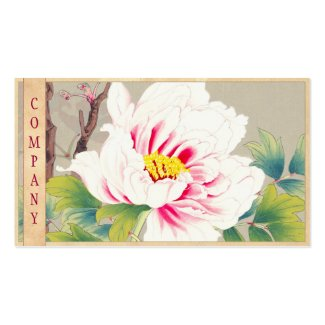 Zuigetsu Ikeda Pink Camellia japanese flower art Business Card Template