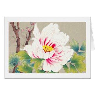 Zuigetsu Ikeda Pink Camellia japanese flower art Card