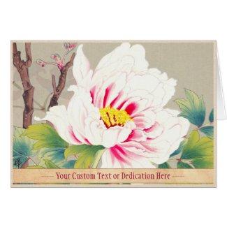 Zuigetsu Ikeda Pink Camellia japanese flower art Cards