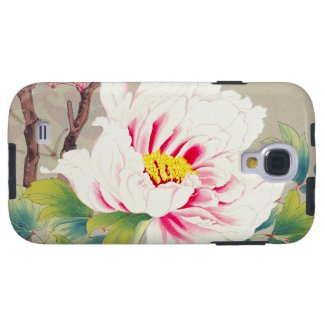 Zuigetsu Ikeda Pink Camellia japanese flower art Galaxy S4 Covers