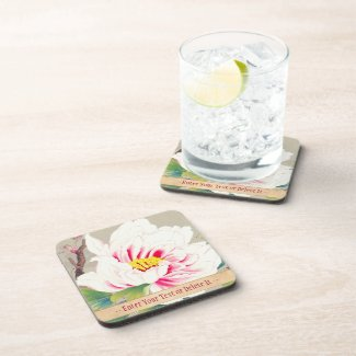 Zuigetsu Ikeda Pink Camellia japanese flower art Beverage Coasters