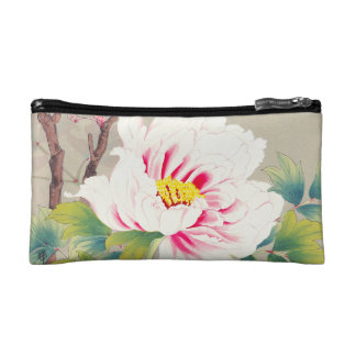 Zuigetsu Ikeda Pink Camellia japanese flower art Cosmetic Bag