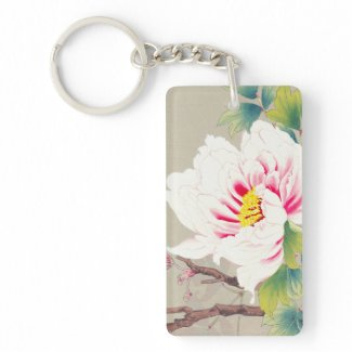 Zuigetsu Ikeda Pink Camellia japanese flower art Key Chain