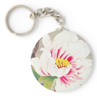 Zuigetsu Ikeda Pink Camellia japanese flower art Key Chains
