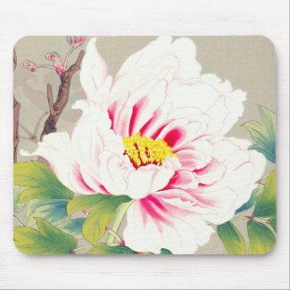 Zuigetsu Ikeda Pink Camellia japanese flower art Mouse Pad