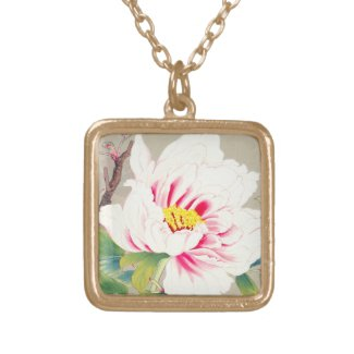 Zuigetsu Ikeda Pink Camellia japanese flower art Necklaces