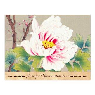 Zuigetsu Ikeda Pink Camellia japanese flower art Postcard