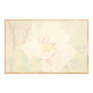 Zuigetsu Ikeda Pink Camellia japanese flower art Custom Stationery