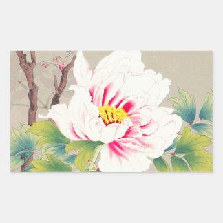 Zuigetsu Ikeda Pink Camellia japanese flower art Rectangle Sticker
