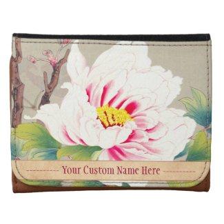 Zuigetsu Ikeda Pink Camellia japanese flower art Wallet