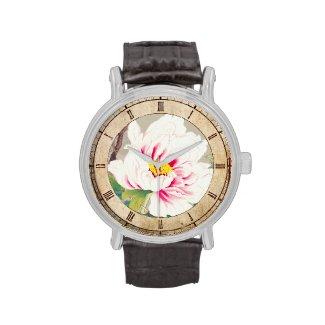 Zuigetsu Ikeda Pink Camellia japanese flower art Watches