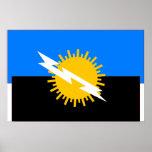 Zulia, bandera de Venezuela Poster