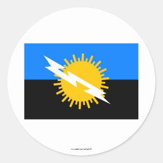 Zulia Flag Classic Round Sticker