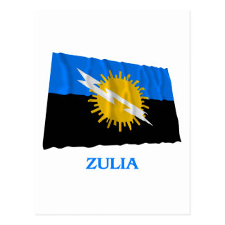 Zulia Waving Flag with Name Postcard