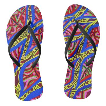 Beach Themed Zuliah Flip Flops