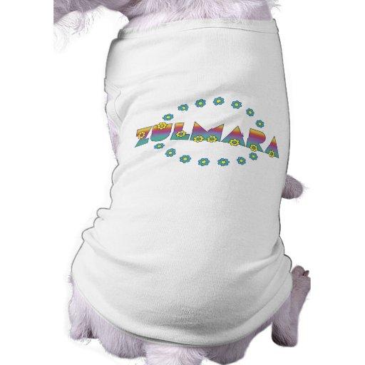 Zulmara de Flores Arco Iris Pet T-shirt