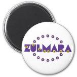 Zulmara de Flores Purpura Refrigerator Magnet