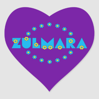 Zulmara Flores Blue Heart Sticker