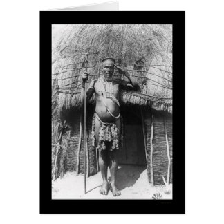 Zulu Chief South Africa 1897 Greeting Cards
