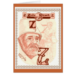 Zulu greeting cards zazzle zulu dawn card stopboris Gallery