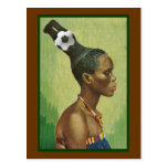 Zulu Hairstyles in 2010 for lovers of soccer Post Card