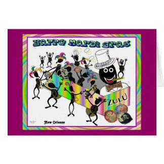 Zulu Parade at Mardi Gras Cards