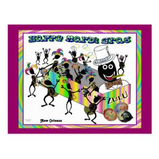 Zulu Parade at Mardi Gras Post Card