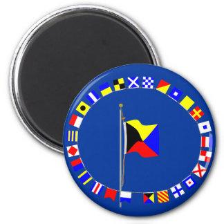 Zulu Require a Tug Nautical Signal Flag 2 Inch Round Magnet