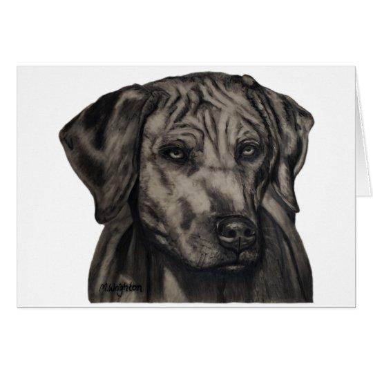 Zulu - Rhodesian Ridgeback Dog Art Card