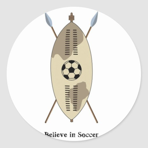 Zulu Shield,believe in soccer. Stickers