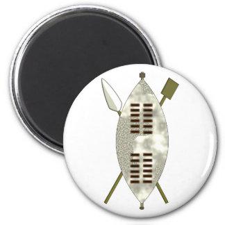 Zulu sign more buckler 2 inch round magnet