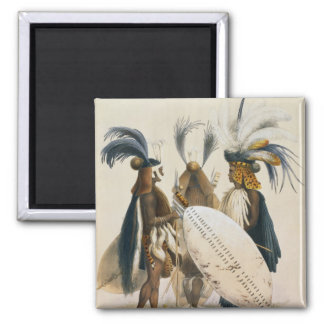Zulu Soldiers of King Panda's Army, plate 20 from 2 Inch Square Magnet
