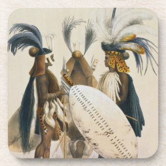Zulu Soldiers of King Panda's Army, plate 20 from Drink Coaster