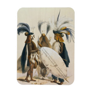 Zulu Soldiers of King Panda's Army, plate 20 from Rectangular Photo Magnet