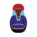 Zulu, South African Matryoshka Postcard