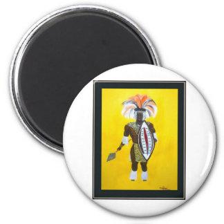 Zulu Warrior 2 Inch Round Magnet