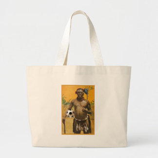 Zulu Warrior Chiefs soccer ball love Jumbo Tote Bag