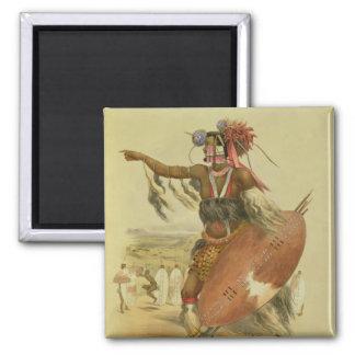 Zulu warrior, Utimuni, nephew of Chaka the late Zu 2 Inch Square Magnet