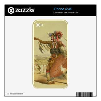 Zulu warrior, Utimuni, nephew of Chaka the late Zu iPhone 4 Skin