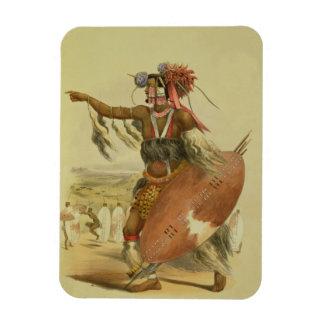 Zulu warrior, Utimuni, nephew of Chaka the late Zu Rectangular Photo Magnet