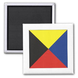 Zulu (Z) Signal Flag 2 Inch Square Magnet
