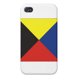 Zulu (Z) Signal Flag Case For iPhone 4
