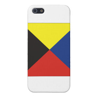 Zulu (Z) Signal Flag Cover For iPhone SE/5/5s