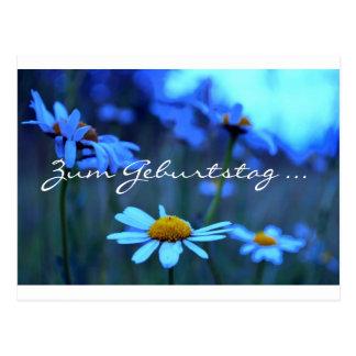 Zum Geburtstag ... (Blue Marguerites) Postcard