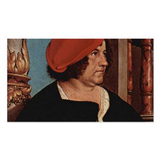 Zum Hasen de alcalde Jacobo Meyer de Hans Holbein- Plantilla De Tarjeta De Negocio