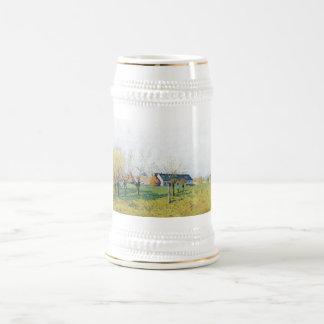 Zum Höllenkaff 1874 de Alfred Sisley Bauernhof Jarra De Cerveza