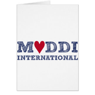 Zum INTERNACIONAL Muttertag de la serie de MUDDI Tarjeta