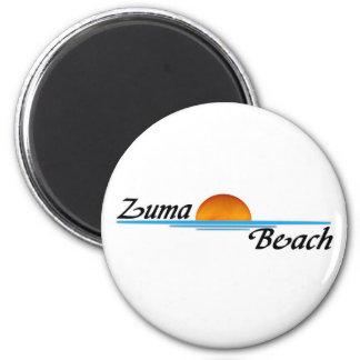 Zuma Beach 2 Inch Round Magnet