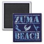 Zuma Beach 2 Inch Square Magnet